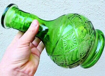 """Water bong Hookah Pipe 10"""" inches tall thick Green GLASS"""