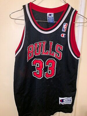 02b9f06c2 Scottie Pippen Chicago Bulls #33 NBA Champion Youth Jersey Size Large  Vintage