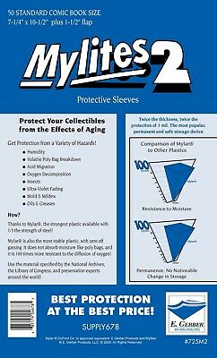 MYLITES 2 STANDARD -  PACK OF 50 - 7 1/4 x 10 3/4 SUPPLY 678