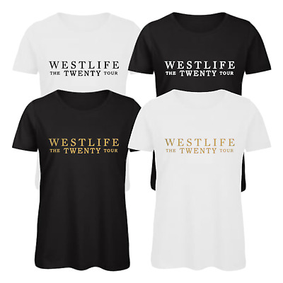 WESTLIFE THE TWENTY TOUR Men Women Ladies Unisex Music T-shirt Tops Tees UK