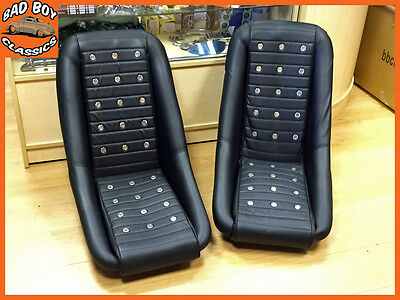 Pair Of Classic BB2 Racing Clubman Bucket Sports Seats Ideal For DATSUN