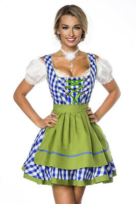 Classic Dirndl Mini Dirndl from Dirndline in Checkered Blue/Green/White Size XS
