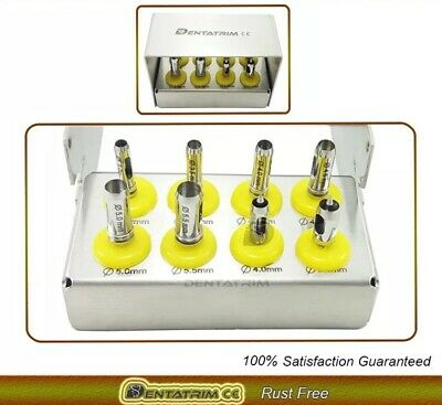 Tissue Punch Dental Implant Kit 8 Pcs Tool With Holder CE FREE POST WORLDWIDE