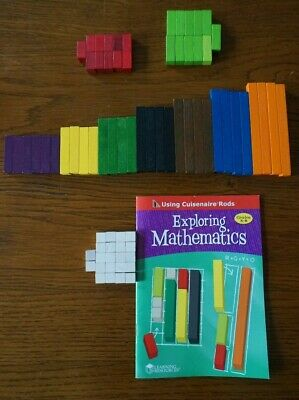 Learning Resources Cuisenaire Interlocking Mathematic Rods Set of 74 NEW