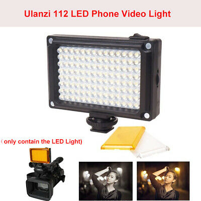 Ulanzi 112 LED Video Light Photographic Lamp Lighting For Camcorder Canon Camera
