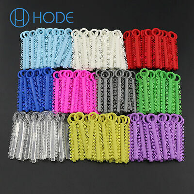 1040pcs Dental Orthodontic Elastic Ligature Ties Rubber Bands , Bracket Color UK