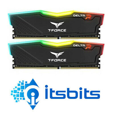 Team 16Gb Ddr4 3000 Delta Rgb Gaming Desktop Ram Memory Dual Channel 288Pin