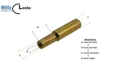 Brass French Clock Pendulum Large Suspension Spring. (30mm x 14.5mm x 5mm) (G1)