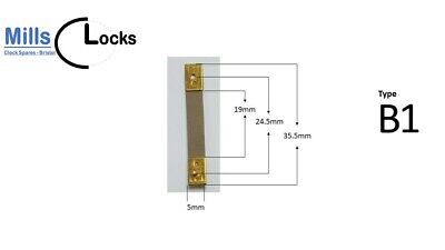 Brass Clock Pendulum Suspension Spring. (35.5 x 19 x 5mm) (Type B1) UK Seller