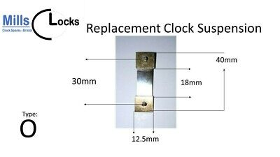 Brass Fuji Clock Pendulum Suspension Spring. (Type O) UK Seller