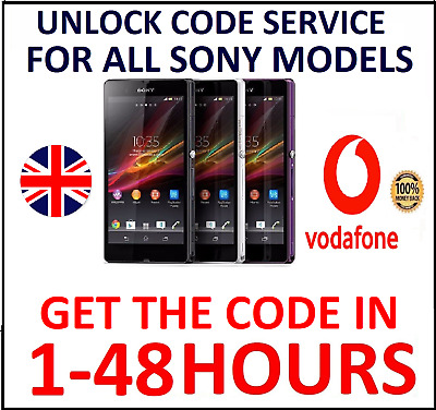 Unlock Code Service For Sony Xperia L1 L2 XA1 XA2 XZ1 XZ2 Vodafone UK
