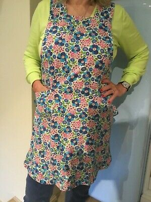 Vintage handcrafted frilled apron/pinafore. Over the head1960's. Good condition.