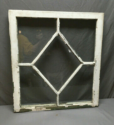Antique Diamond Cottage Window Sash Shabby Vintage Chic 322-19L