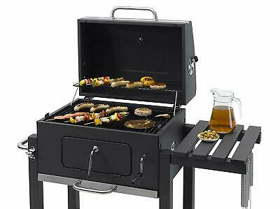 Toronto BBQ Barbecue Charcoal Tepro Click Trolley Anthracite/Stainless Steel