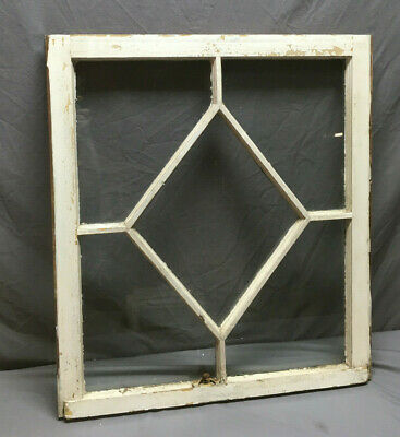Antique Diamond Cottage Window Sash Shabby Vintage Chic 328-19L