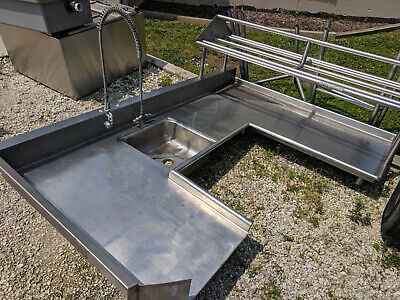 """Commercial Kitchen Sink Stainless Steel 103"""" L"""