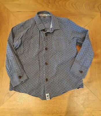 Gorgeous Ted Baker Boys Smart Casual Blue Designer Shirt Age 3-4 Years Summer