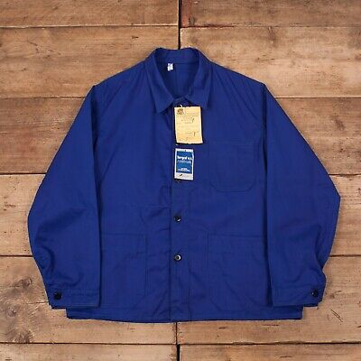 "Mens Vintage Koneco Deadstock NOS Blue French Worker Jacket Medium 40"" R13039"