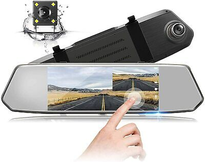 10 Inch Car DVR Rear View Dash Camera Video Recorder Front & Back Dual Lens HD