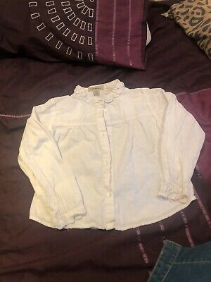 Burberry White Shirt For girls size 4 years