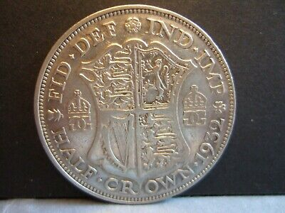 Half Crown 50% SILVER GEORGE V Choose Year 1920-1935 F to VF Condition! Cleaned!