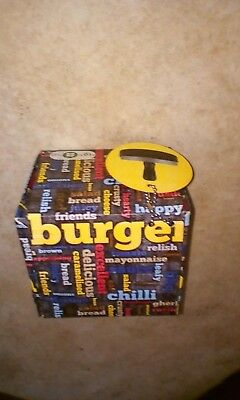 Burger round press 4.5 inch x 4.5 inch recipe cards boxed making stamp/ tool/