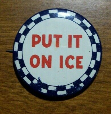 """MR PIBB SODA  /""""PUT IT IN YOUR HEAD/"""" COLLECTIBLE 3/"""" DIAMETER PINBACK BUTTON"""
