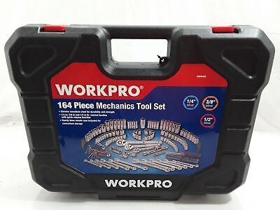WORKPRO Socket Wrench Set, 164-piece Mechanics Tool Kit with Blow Molded Case