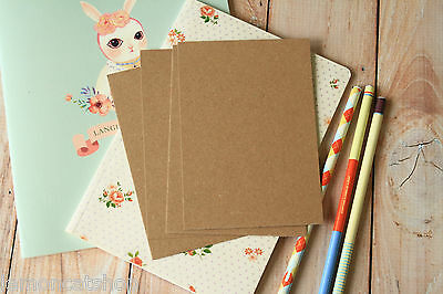 KRAFT Brown Postcards 20pc eco friendly recycled plain DIY crafting blank cards