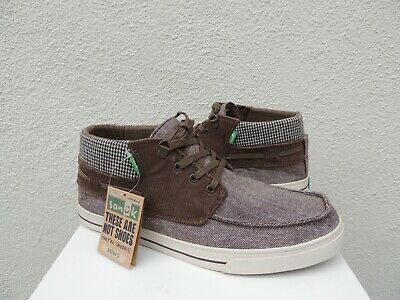 Sanuk Men/'s SCHOONER DEAN BROWN Chukka Boot Lace Up Casual Loafer SMF10450R NEW
