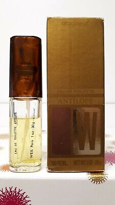 Antilope  by Weil EDT 30ml (75% FULL APPROX.) . *VERY VINTAGE*