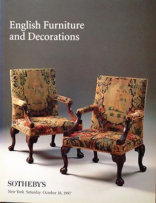 Sotheby's Catalog Fine English Furniture Decorations Tapestry Porcelain 1997 NY