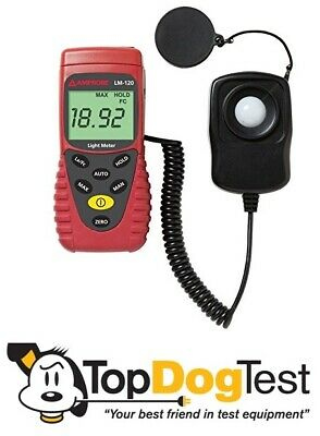 AMPROBE LM-120 Auto Ranging Light Meter,0 to 20,000Fc