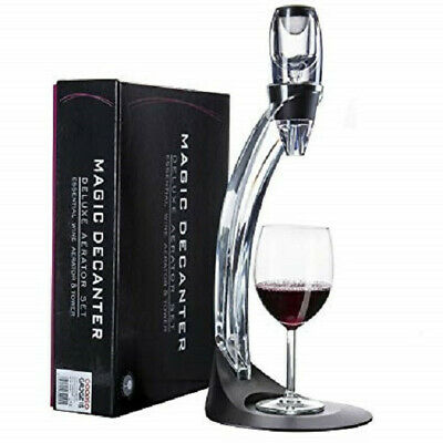 Magic Decanter Deluxe Red Wine Aerator with Tower Set - For all wine experts
