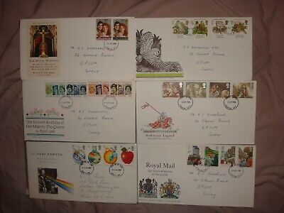 Royal mail selection of 6 first day covers