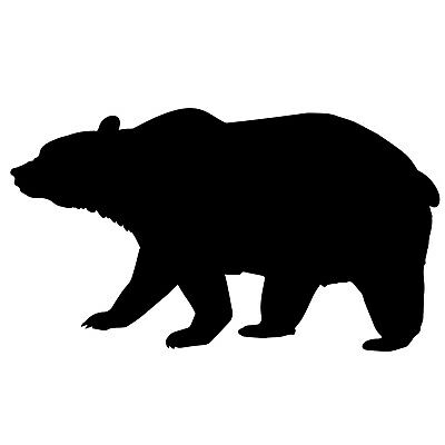Bear Grizzly Standing Profile Silhouette Removable Permanent Vinyl Decal Sticker