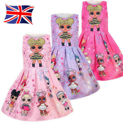 Cute LOL Girls Lol Surprise Doll Princess Dress Kid Party Holiday Dress Gift COS