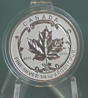 2015 CANADA $3 Incuse Silver Maple Leaf 1/4 oz Reverse proof from Fractional set