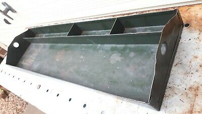 Vintage artists metal Paint Tray tool tray