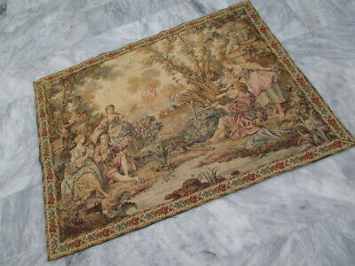 5031 - Old French / Belgium Tapestry Wall Hanging - 106 x 135 cm