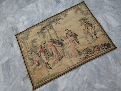 5037 - Old French / Belgium Tapestry Wall Hanging - 135 x 99 cm