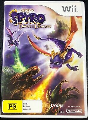 The Legend Of Spyro Dawn of the Dragon Game for Nintendo Wii in Box with Manual