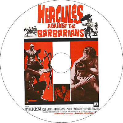 Hercules Against the Barbarians (1964 cult dubbed English) MOD DVD disc only