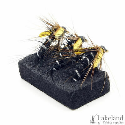 6x or 12x Claret UV Straggler Dabbler Wet Trout Flies for Fly Fishing 3x