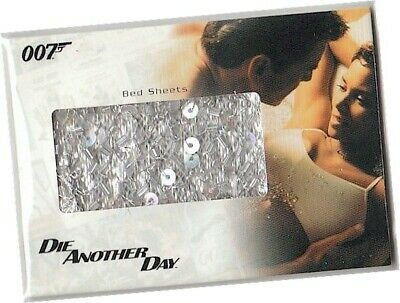 """James Bond In Motion - RC20 """"Bed Sheets"""" Relic Card 308/365 - Die Another Day"""