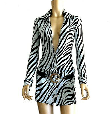 069f0fbab Gucci Tom Ford Rare 1996 Jersey Mini Shirt Dress Chic Very Sex & The Single  Girl