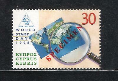 CYPRUS UPU U.P.U WORLD STAMP DAY 1998 SET 1V. Opt. SPECIMEN MNH  U.P.U  MAP
