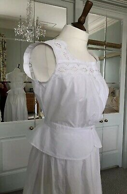 "Antique 1880 Embroidered Camisole Handmade Lingerie Blouse Waist: 27"" Never Used"