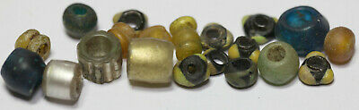 Viking BEADS ANCIENT GLASS rare different color   BIG KIT