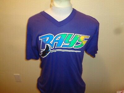 3e24eb73 90s Large Mens VTG Majestic Tampa Bay Devil Rays 1-sided jersey t-shirt